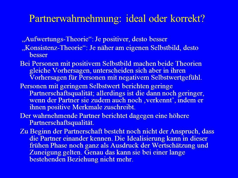 Partnerwahrnehmung: ideal oder korrekt