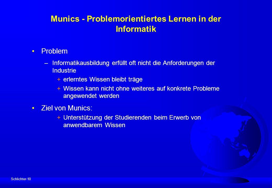 Munics - Problemorientiertes Lernen in der Informatik