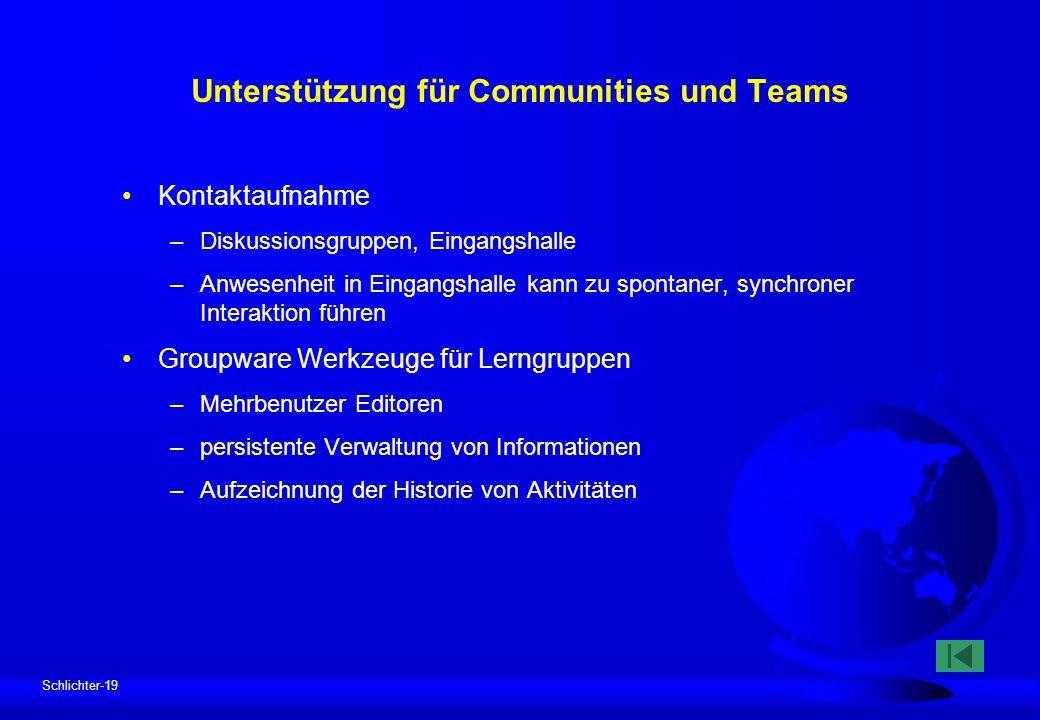 Unterstützung für Communities und Teams