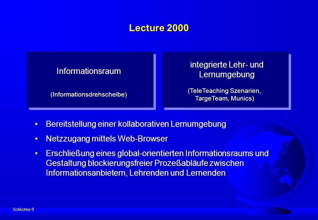 Lecture 2000 integrierte Lehr- und Lernumgebung Informationsraum