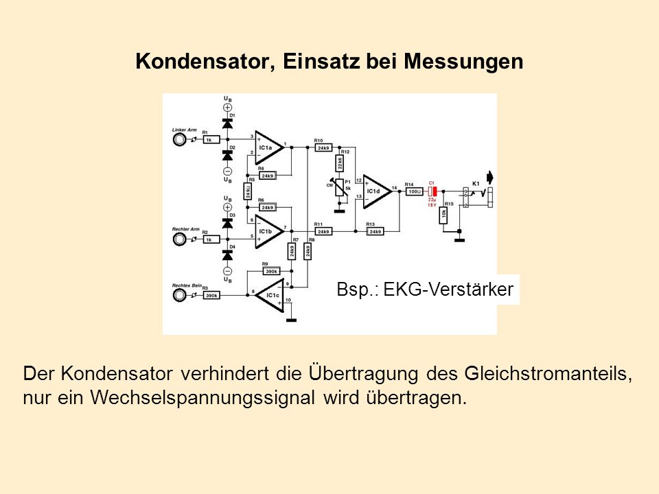 Kondensator, Einsatz bei Messungen