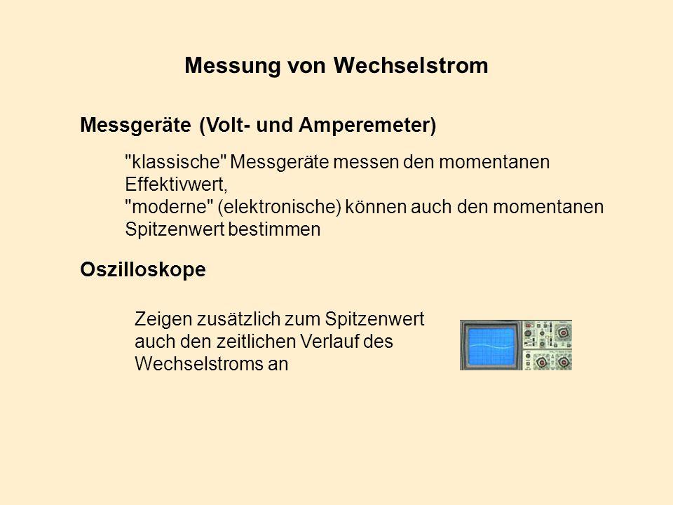 Messung von Wechselstrom