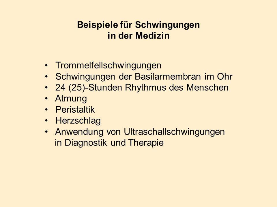 Beispiele für Schwingungen in der Medizin