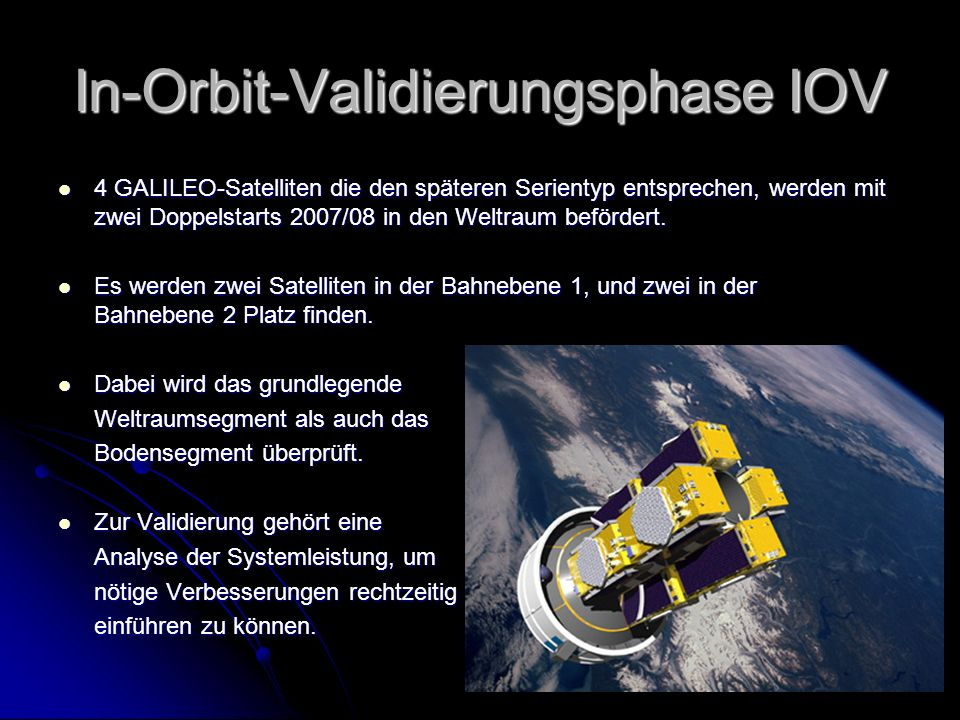 In-Orbit-Validierungsphase IOV