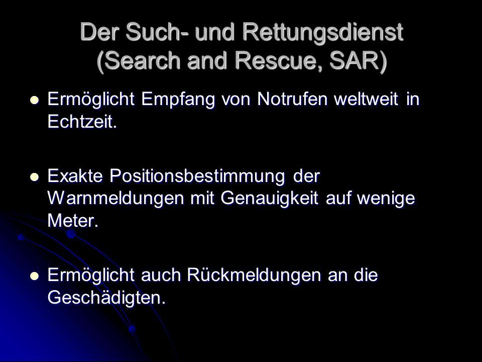 Der Such- und Rettungsdienst (Search and Rescue, SAR)