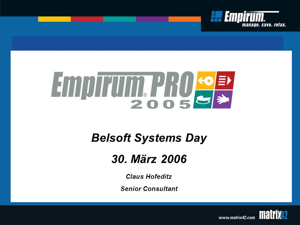 Belsoft Systems Day 30. März 2006