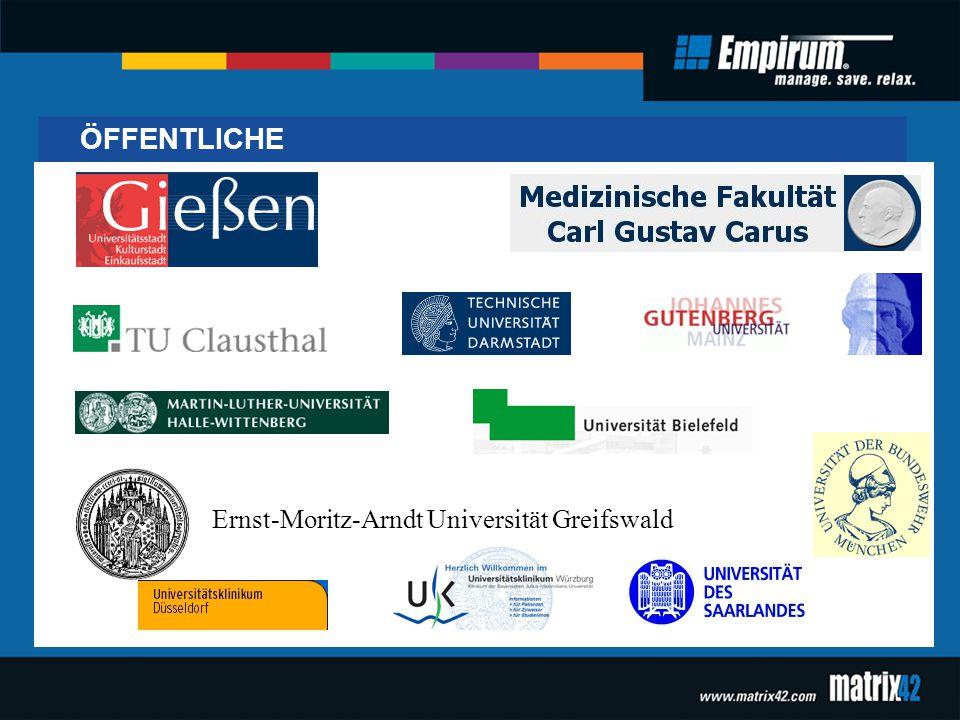 ÖFFENTLICHE Ernst-Moritz-Arndt Universität Greifswald
