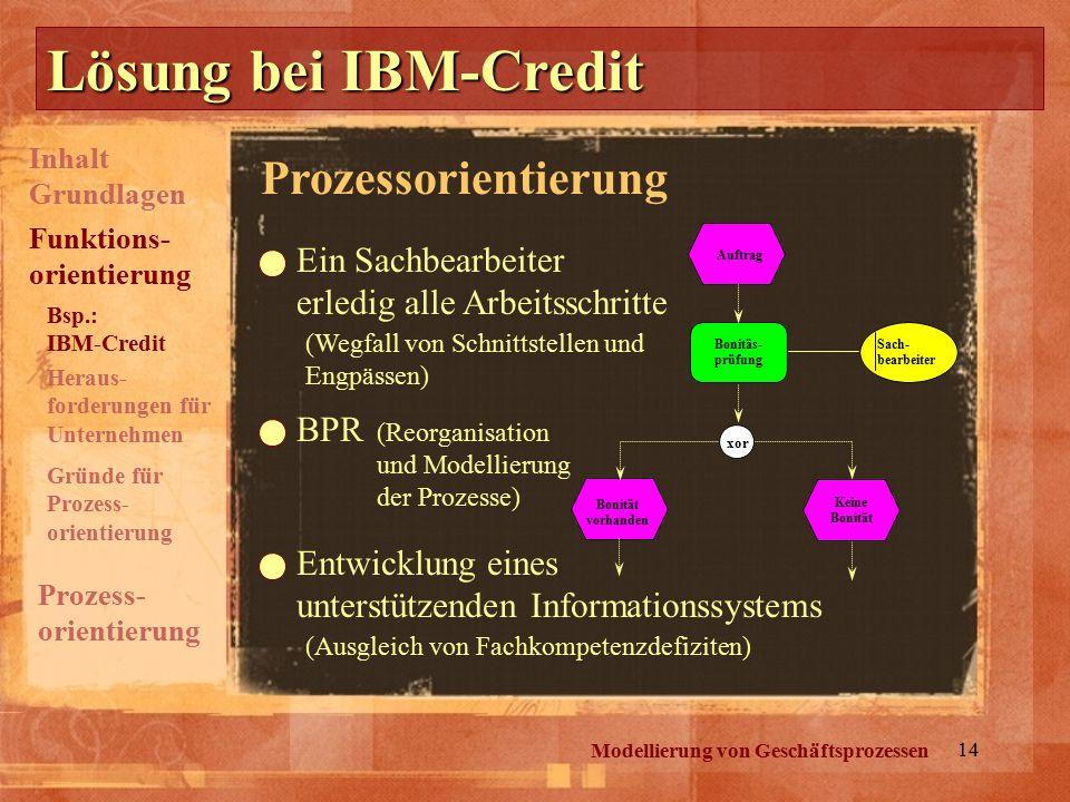 Lösung bei IBM-Credit Prozessorientierung