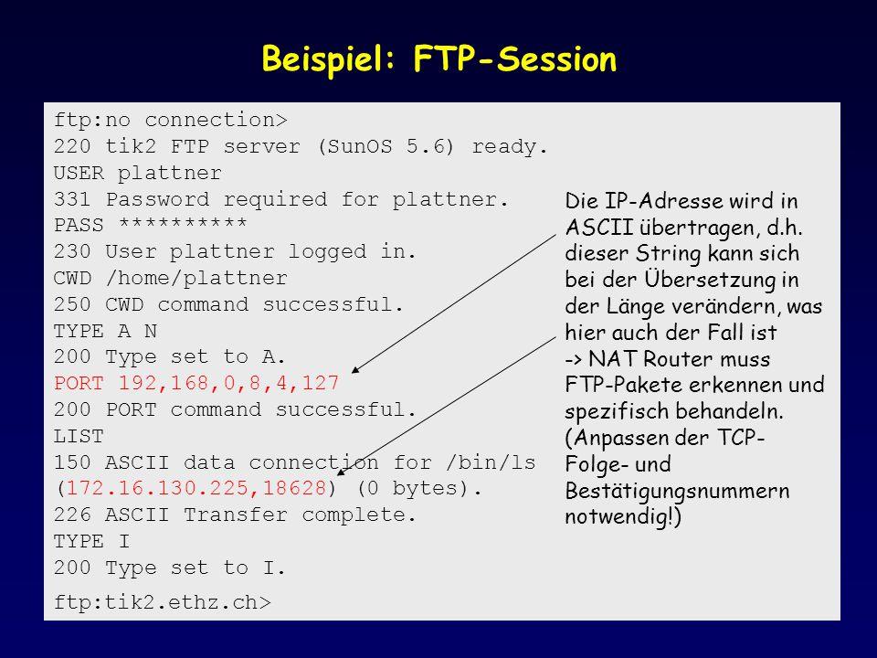 Beispiel: FTP-Session
