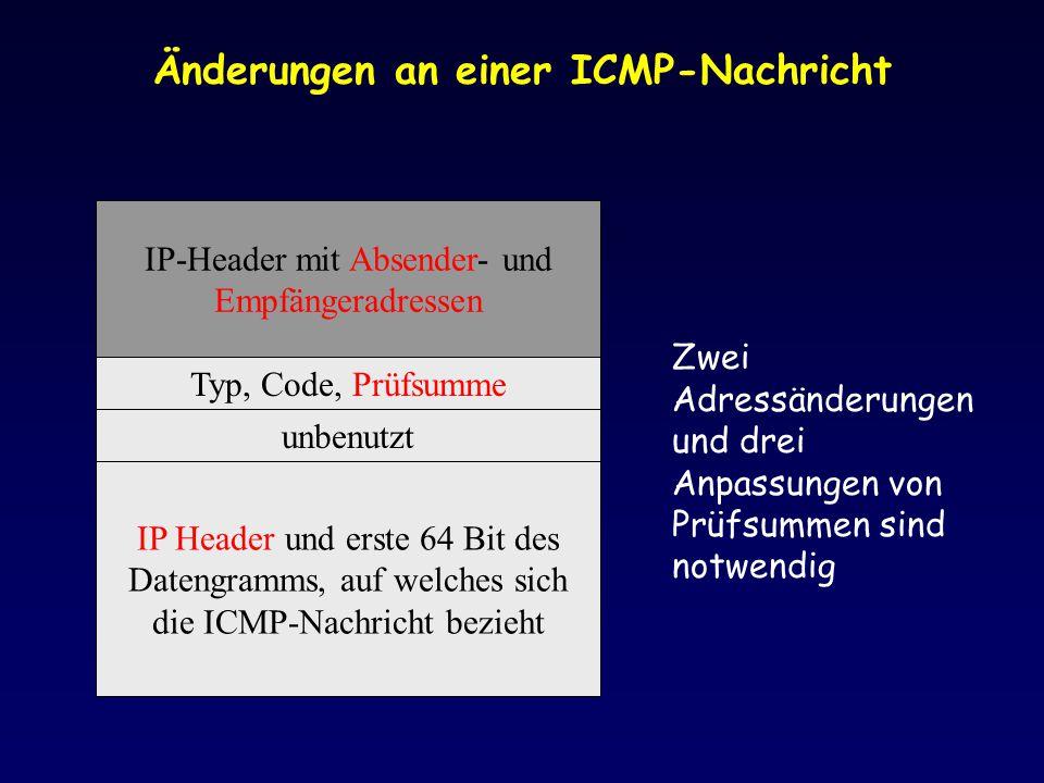 Änderungen an einer ICMP-Nachricht