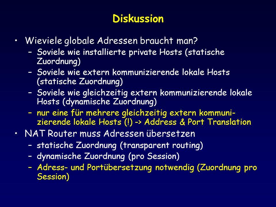 Diskussion Wieviele globale Adressen braucht man
