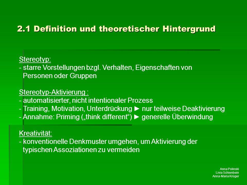 2.1 Definition und theoretischer Hintergrund