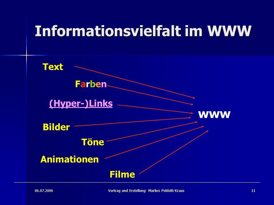 Informationsvielfalt im WWW