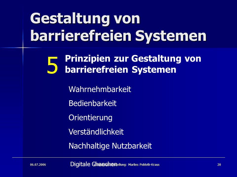 Gestaltung von barrierefreien Systemen