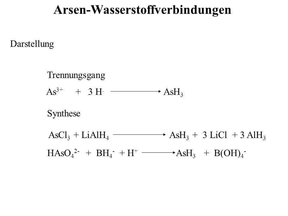 Arsen-Wasserstoffverbindungen