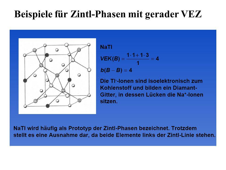 Beispiele für Zintl-Phasen mit gerader VEZ