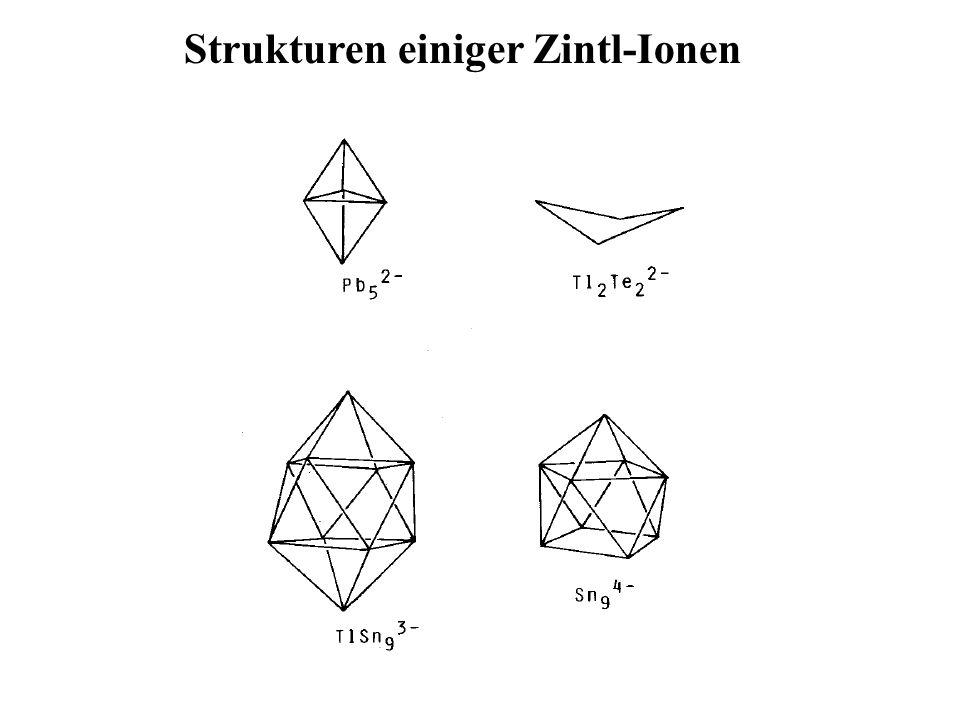 Strukturen einiger Zintl-Ionen