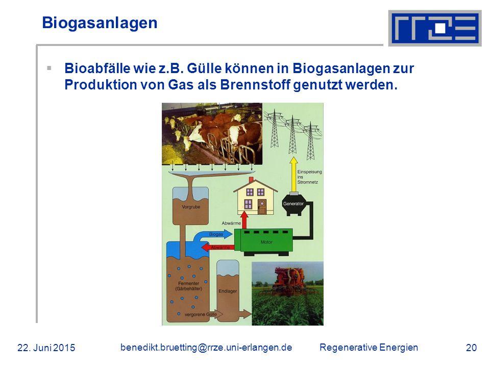 Biogasanlagen Bioabfälle wie z.B. Gülle können in Biogasanlagen zur Produktion von Gas als Brennstoff genutzt werden.