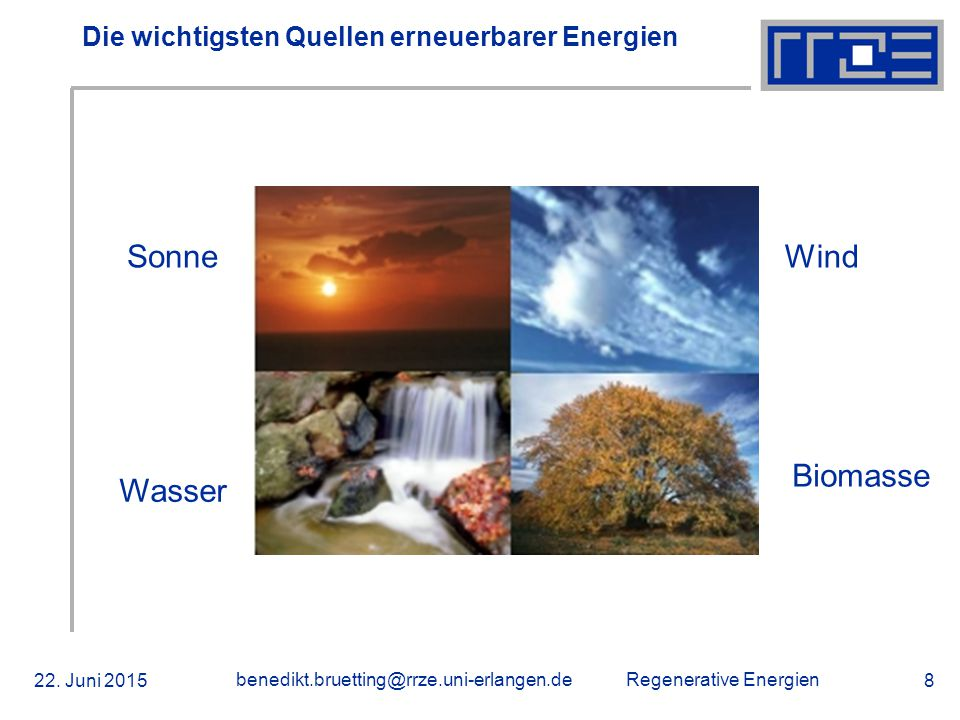Die wichtigsten Quellen erneuerbarer Energien