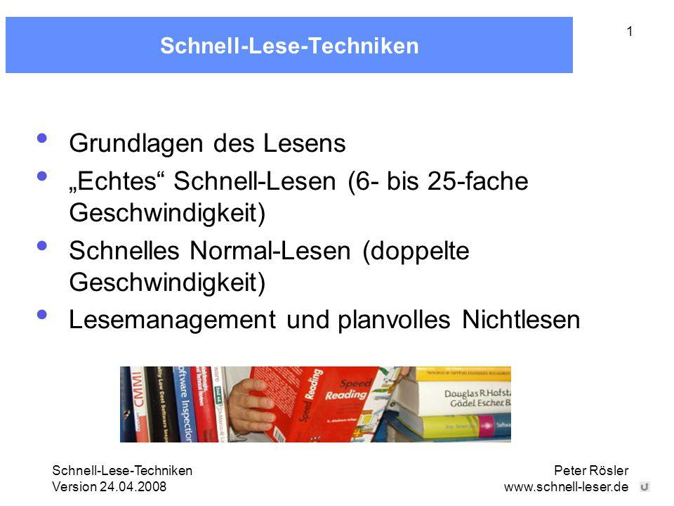 Schnell-Lese-Techniken