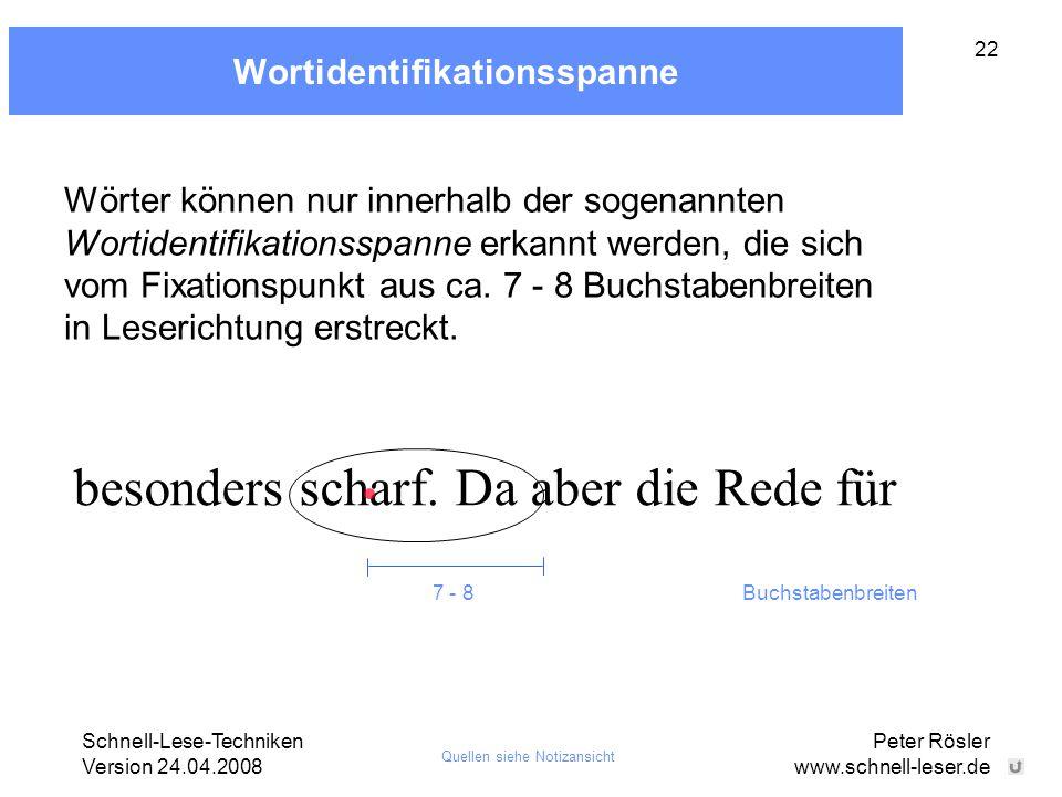 Wortidentifikationsspanne