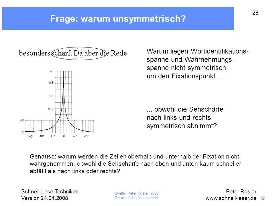 Frage: warum unsymmetrisch