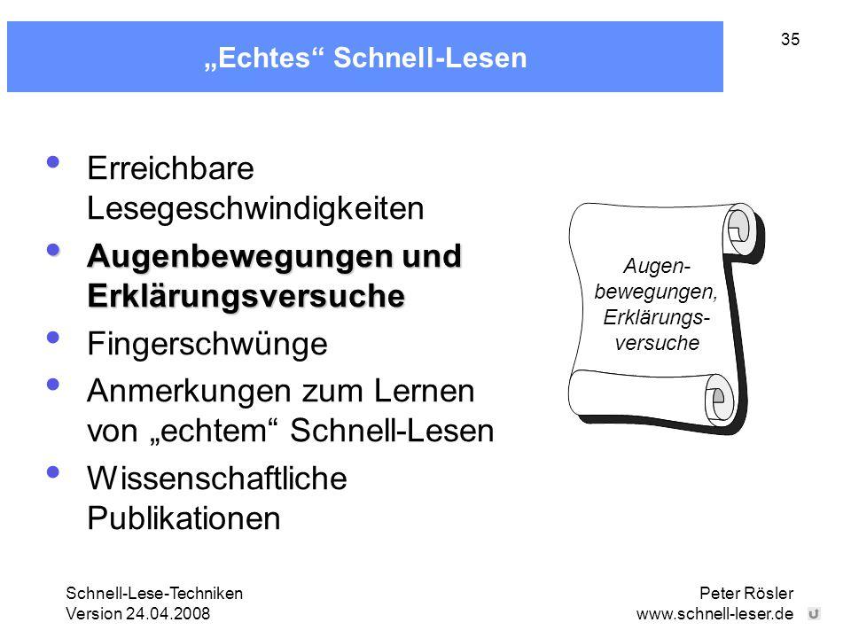 """""""Echtes Schnell-Lesen"""