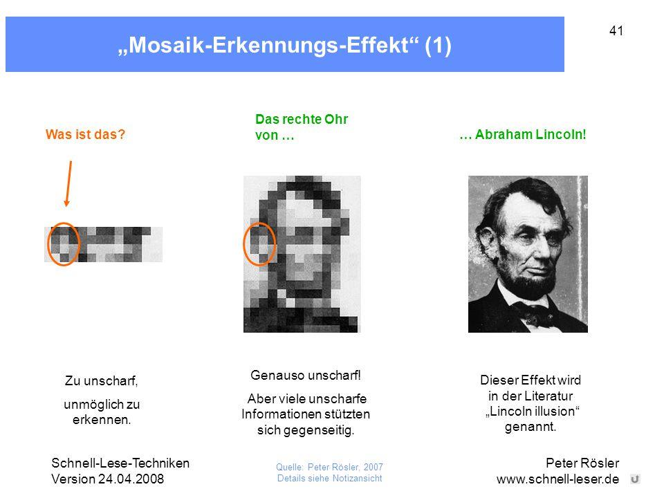 """Mosaik-Erkennungs-Effekt (1)"