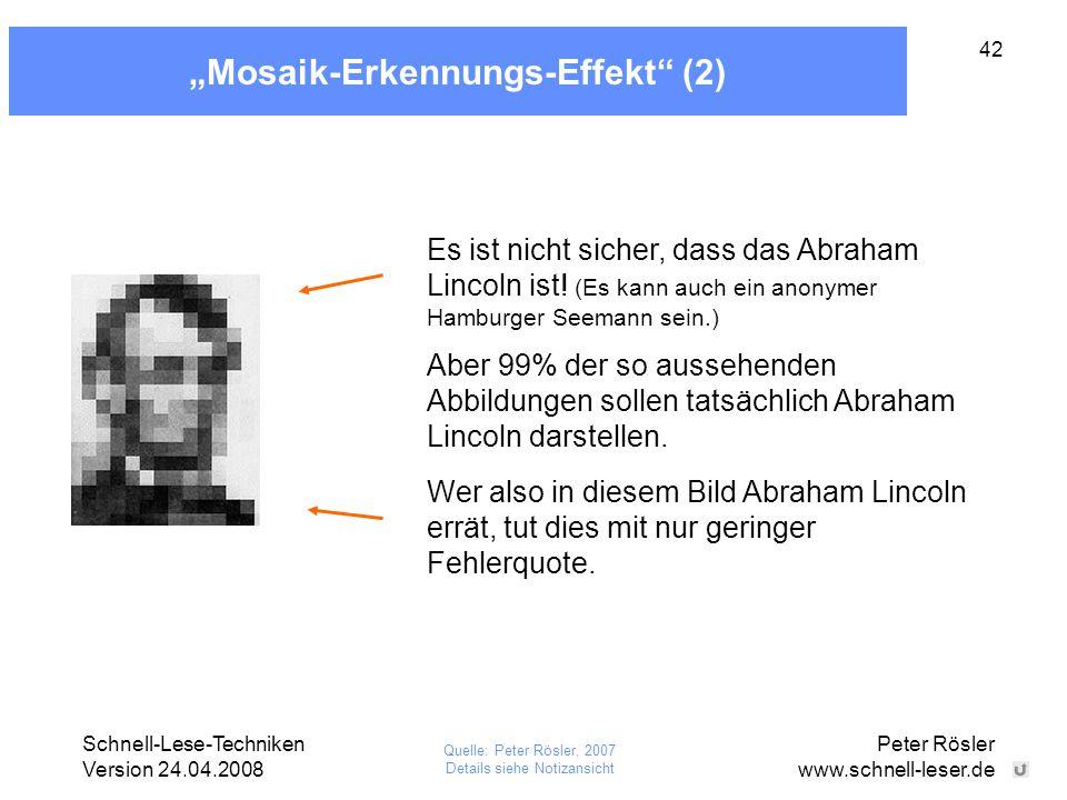 """Mosaik-Erkennungs-Effekt (2)"