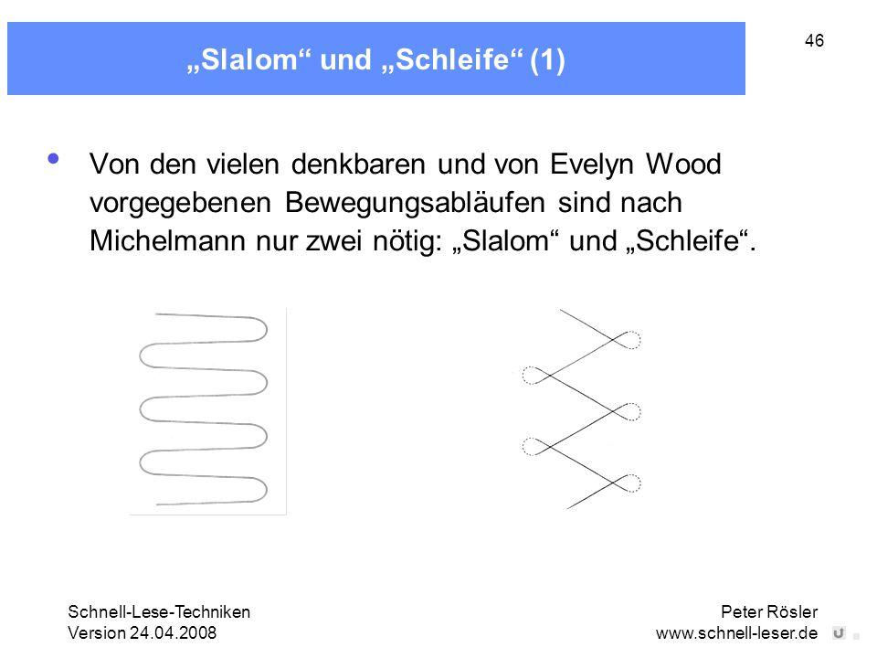 """""""Slalom und """"Schleife (1)"""