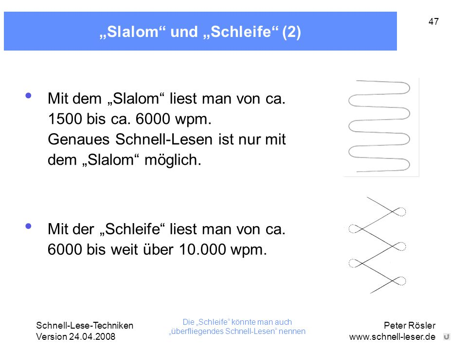"""""""Slalom und """"Schleife (2)"""