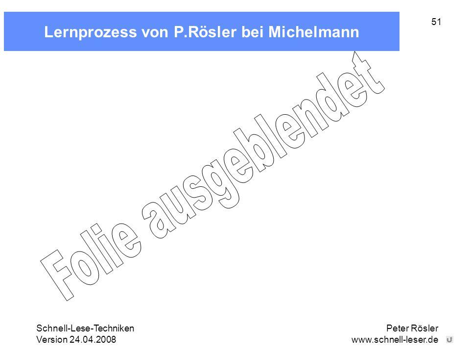 Lernprozess von P.Rösler bei Michelmann