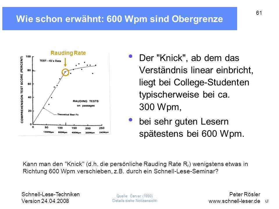 Wie schon erwähnt: 600 Wpm sind Obergrenze
