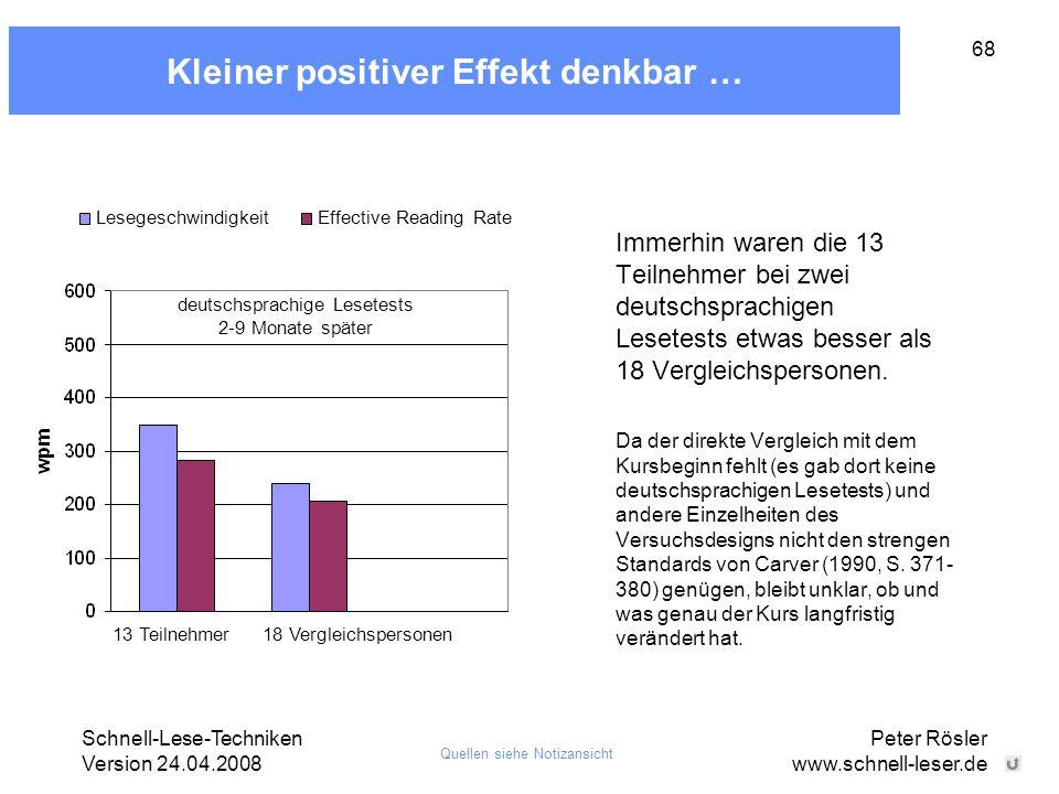 Kleiner positiver Effekt denkbar …