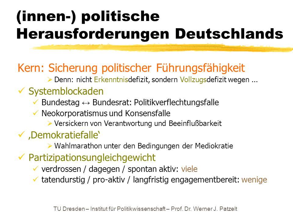(innen-) politische Herausforderungen Deutschlands