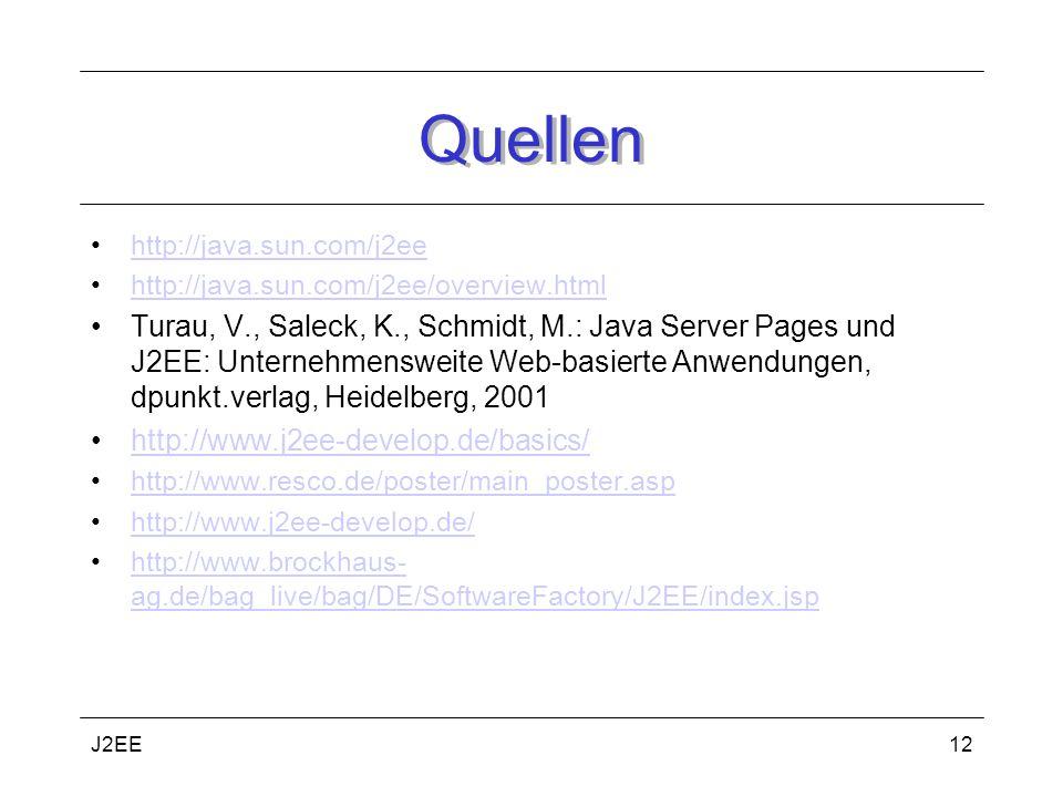Quellen http://java.sun.com/j2ee. http://java.sun.com/j2ee/overview.html.