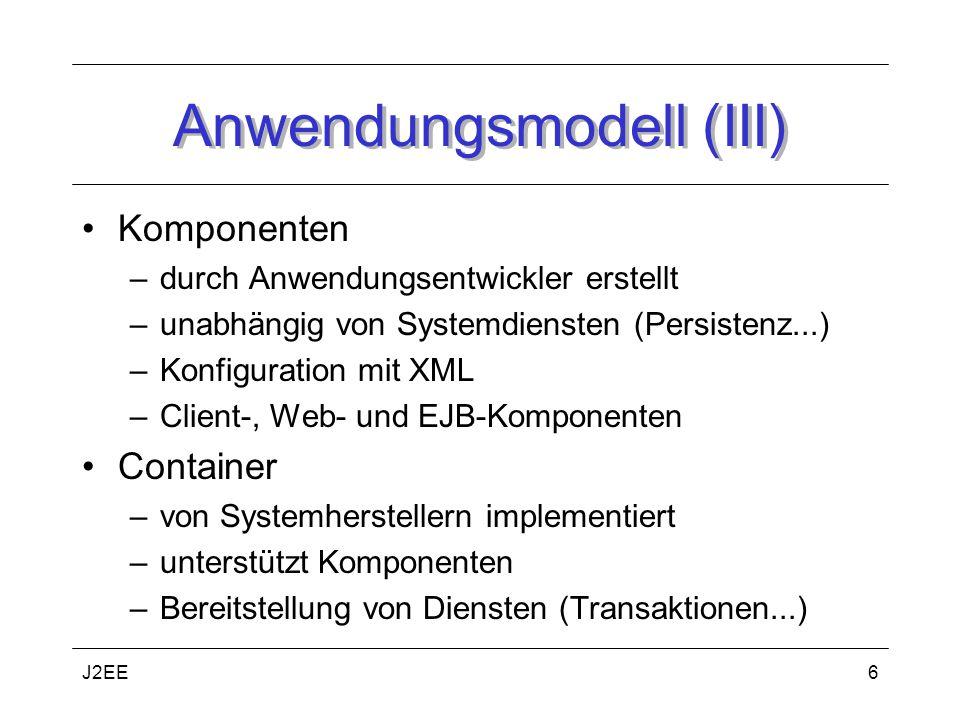Anwendungsmodell (III)