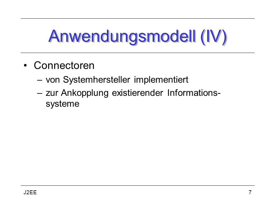 Anwendungsmodell (IV)