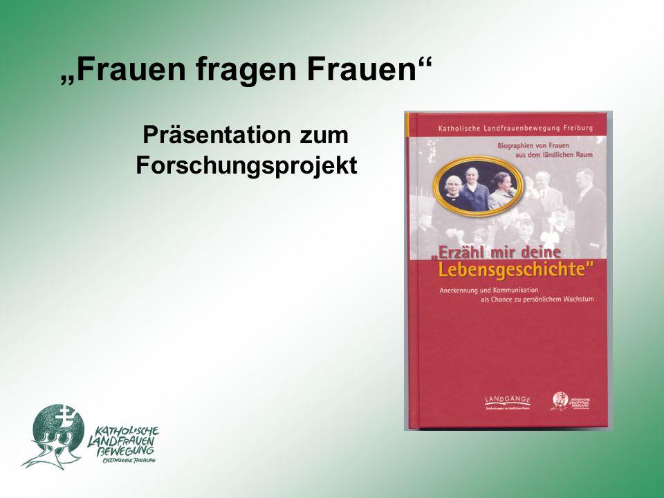 """""""Frauen fragen Frauen Präsentation zum Forschungsprojekt"""