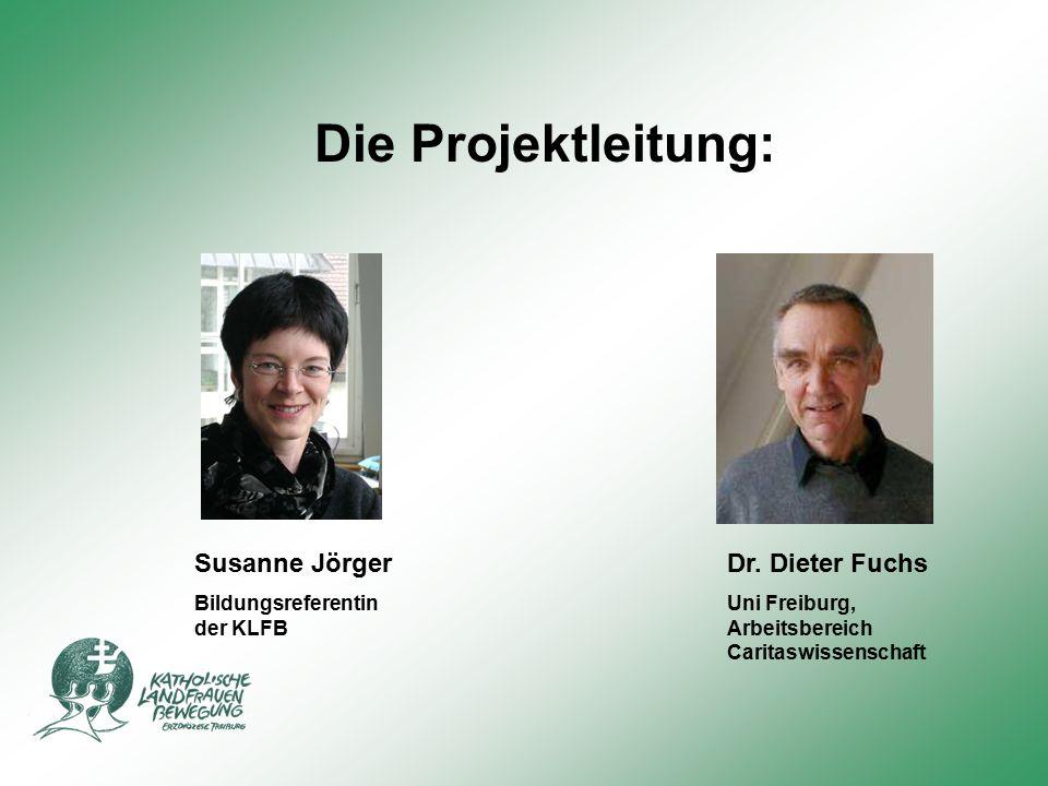 Die Projektleitung: Susanne Jörger Dr. Dieter Fuchs