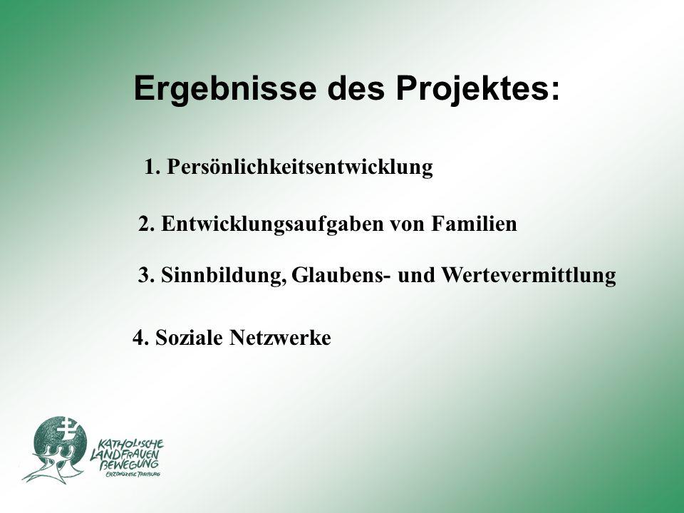 Ergebnisse des Projektes: