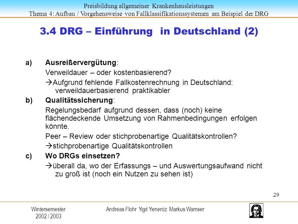 3.4 DRG – Einführung in Deutschland (2)