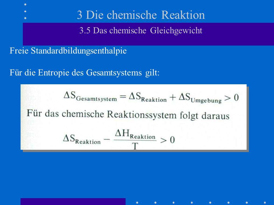 3 Die chemische Reaktion 3.5 Das chemische Gleichgewicht