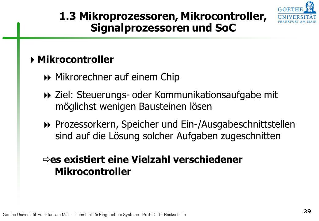 1.3 Mikroprozessoren, Mikrocontroller, Signalprozessoren und SoC