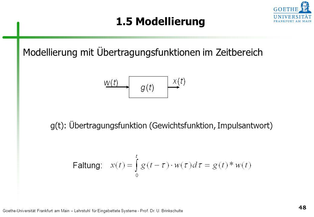 g(t): Übertragungsfunktion (Gewichtsfunktion, Impulsantwort)