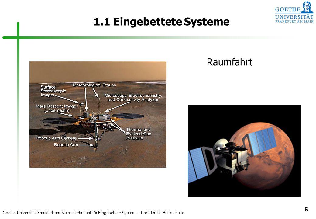 1.1 Eingebettete Systeme Raumfahrt