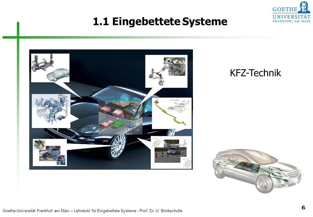 1.1 Eingebettete Systeme KFZ-Technik