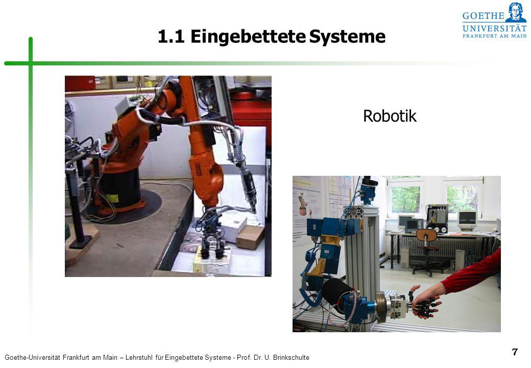 1.1 Eingebettete Systeme Robotik