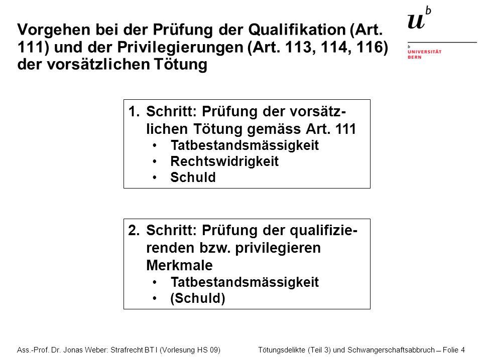 Vorgehen bei der Prüfung der Qualifikation (Art