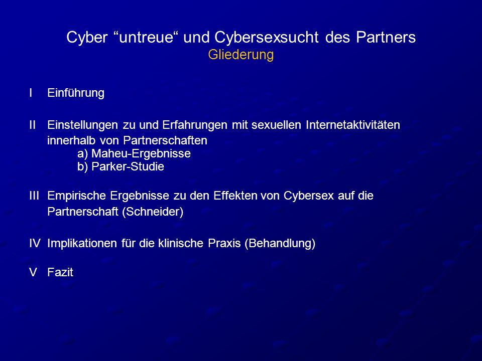 Cyber untreue und Cybersexsucht des Partners Gliederung